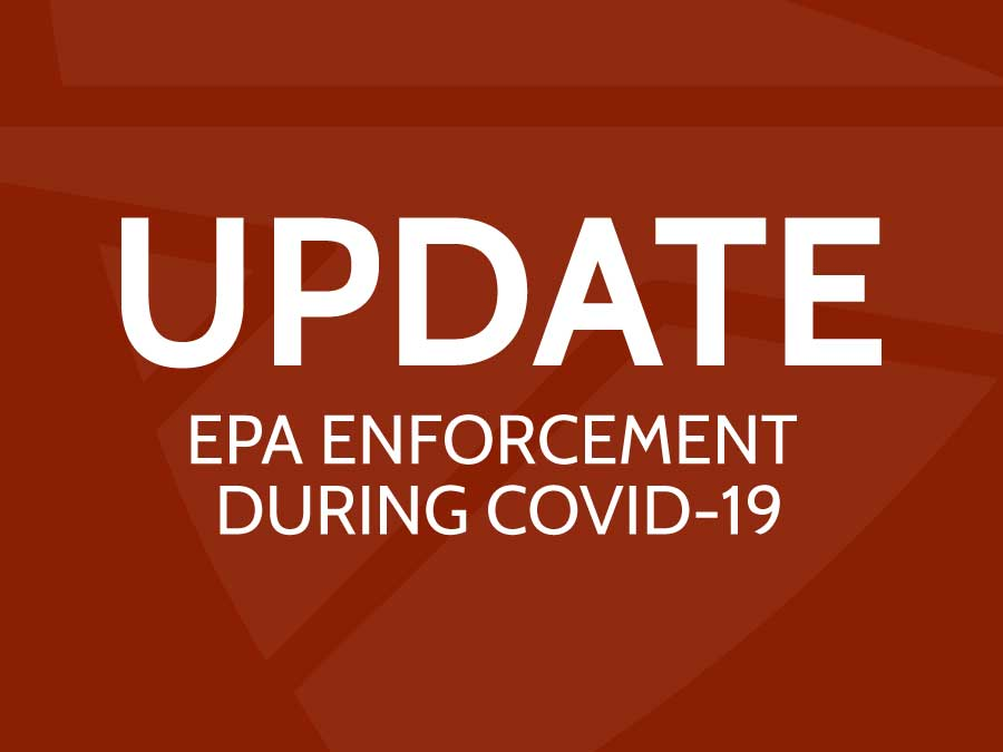 EPA Enforcement COVID-19