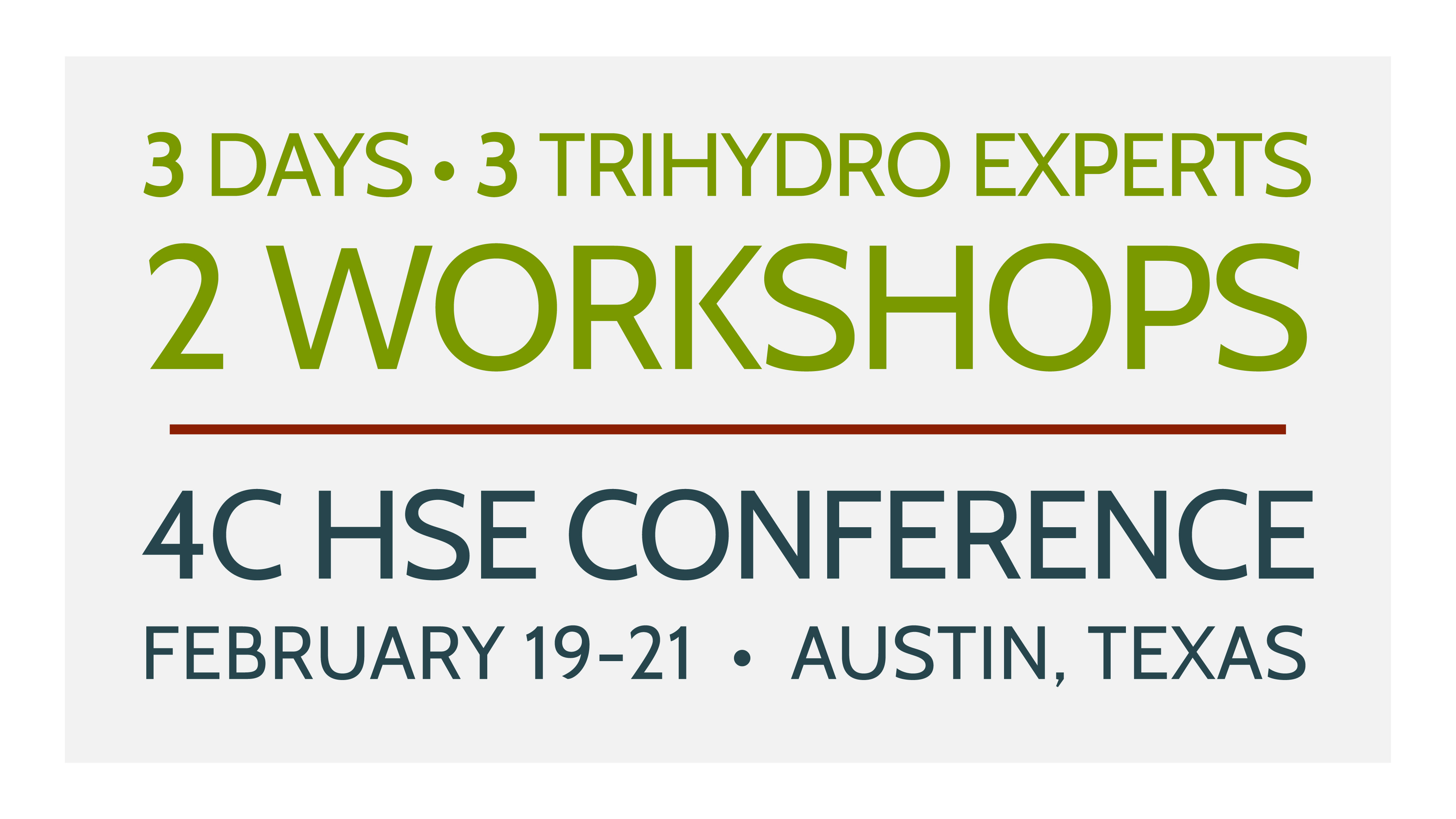 Trihydro at 2020 4C conference