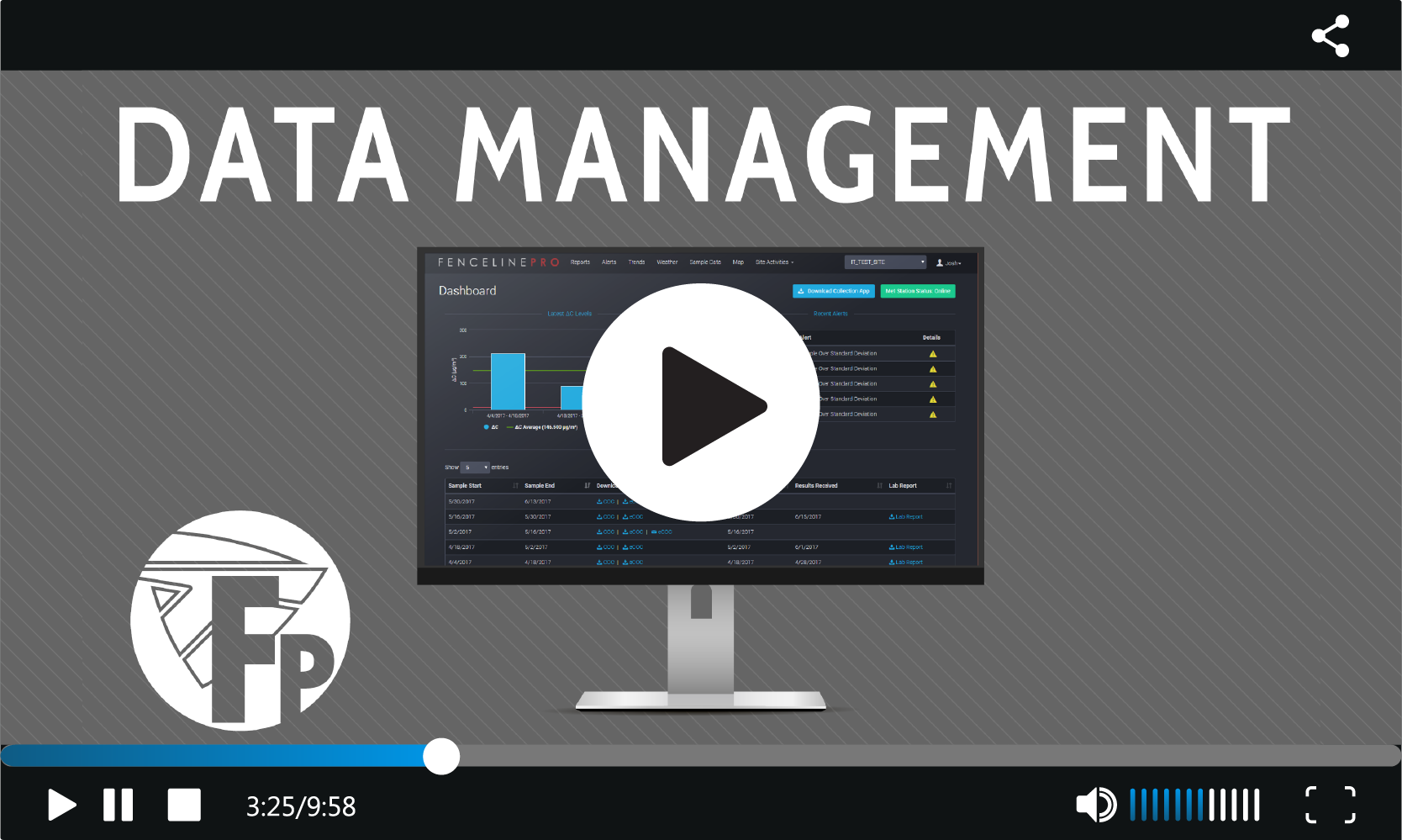 Fenceline Pro Data Management Video