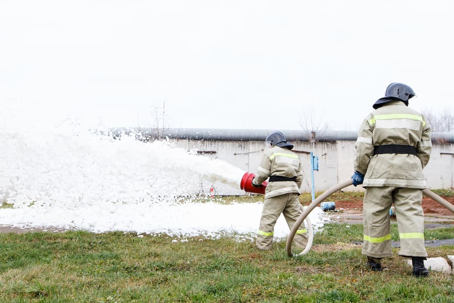 Firefighters use AFFF containing PFAS